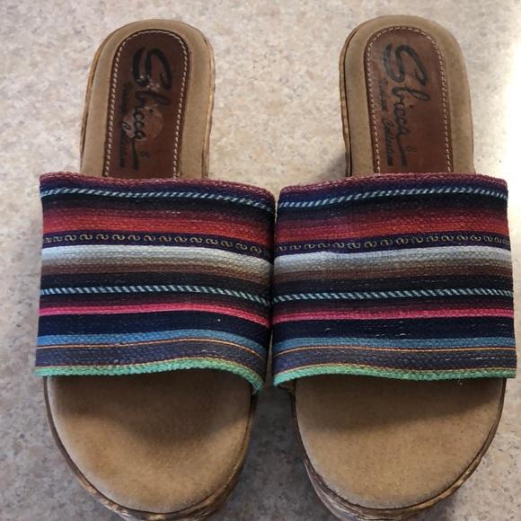 Sbicca Shoes - Sbicca sz 8 wedge heel sandal worn once
